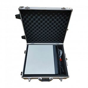 Aluminum Case with Outside Trolley